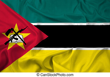 Waving Mozambique Flag