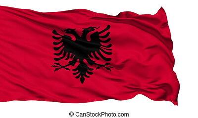 Waving national flag of Albania