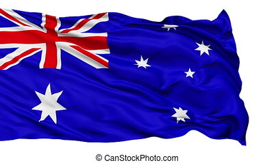 Waving national flag of Australia