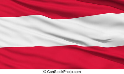 Closeup cropped view of a fluttering national flag of Austria