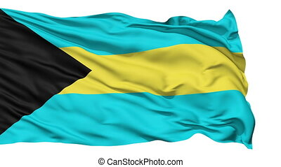 Waving national flag of Bahamas - Animation of the full...