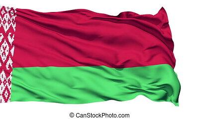Waving national flag of Belarus