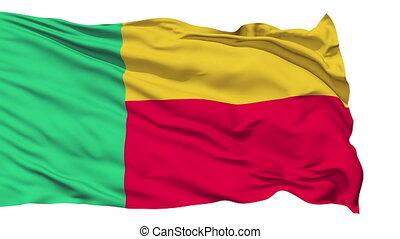 Waving national flag of Benin