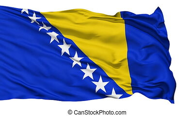 Waving national flag of Bosnia and - Animation of the full...