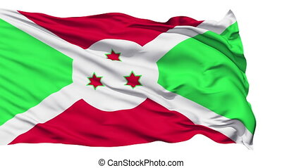 Waving national flag of Burundi
