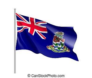 Waving national flag of Cayman Islands