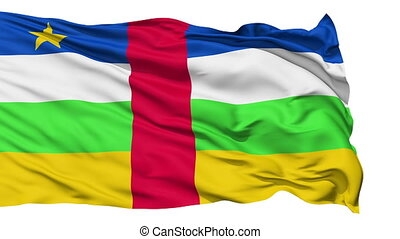 Waving national flag of Central Africa - Animation of the...