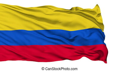 Waving national flag of Colombia