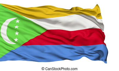 Waving national flag of Comoros