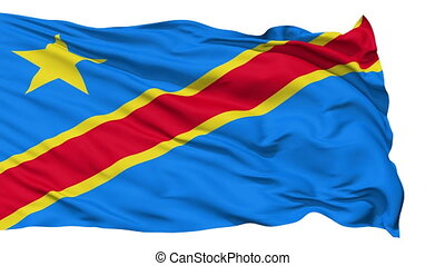 Waving national flag of Congo - Animation of the full...