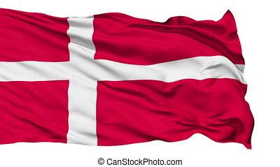 Waving national flag of Denmark - Animation of the full...