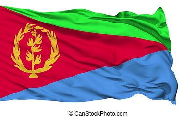 Waving national flag of Eritrea