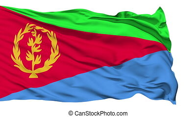 Waving national flag of Eritrea - Animation of the full...