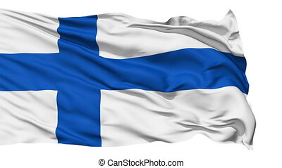 Waving national flag of Finland