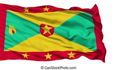 Waving national flag of Greanada