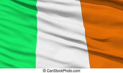 Waving national flag of Ireland - Animation of the full...