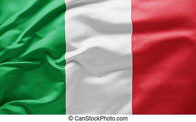 Waving national flag of Italy
