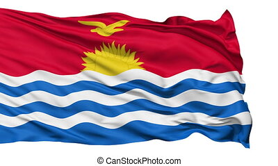 Waving national flag of Kiribati - Animation of the full...
