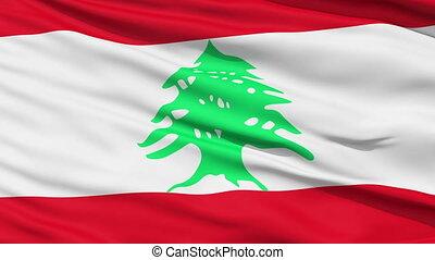 Waving national flag of Lebanon