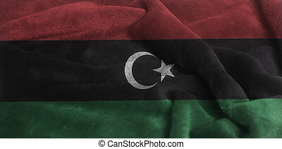Waving National Flag of Libya