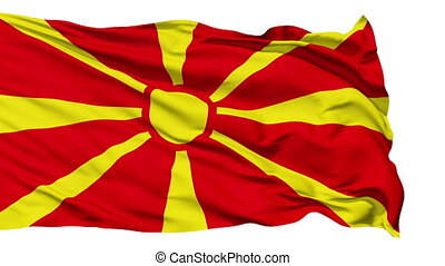 Waving national flag of Macedonia - Animation of the full...