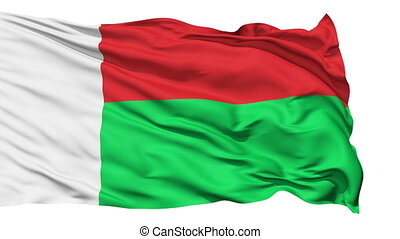 Waving national flag of Madagascar - Animation of the full...