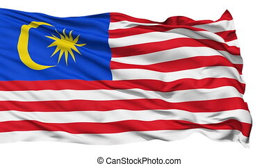 Waving national flag of Malaysia - Animation of the full...