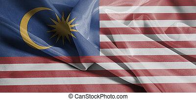 Waving National flag of Malaysia