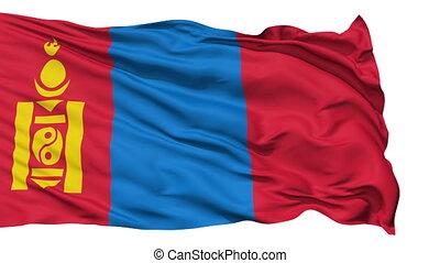 Waving national flag of Mongolia - Animation of the full...