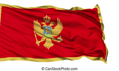 Waving national flag of Montenegro - Animation of the full...
