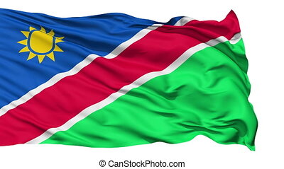 Waving national flag of Namibia - Animation of the full...