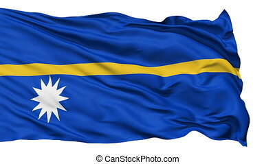 Waving national flag of Nauru - Animation of the full...