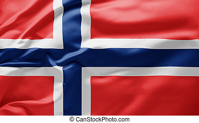 Waving national flag of Norway