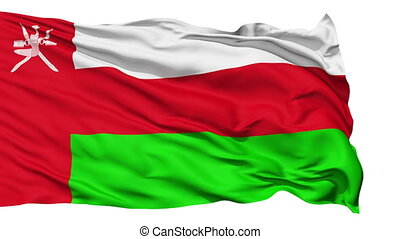 Waving national flag of Oman
