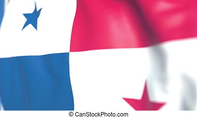 Waving national flag of Panama close-up, loopable 3D...