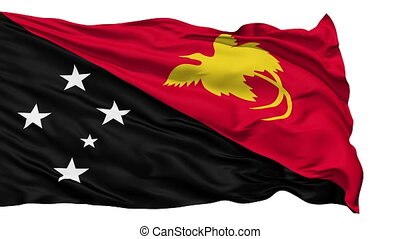 Waving national flag of Papua New G - Animation of the full...