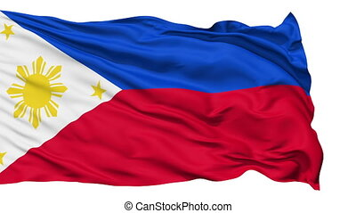 Waving national flag of Philippines - Animation of the full...