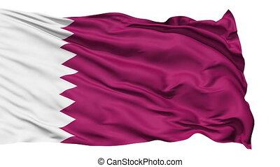 Waving national flag of Qatar