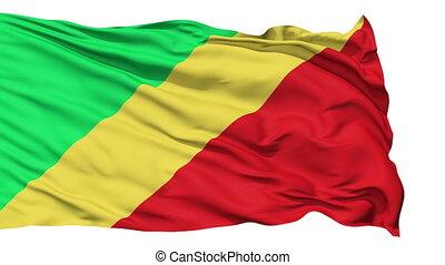 Waving national flag of Republic of Congon