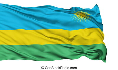 Waving national flag of Rwanda - Animation of the full...