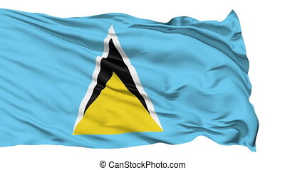 Waving national flag of Saint Kitts - Animation of the full...