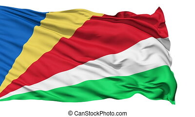 Waving national flag of Seychelles - Animation of the full...
