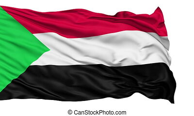 Waving national flag of Sudan