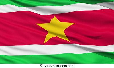 Waving national flag of Suriname