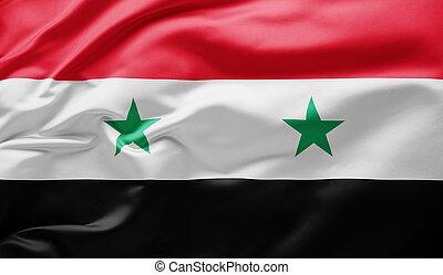 Waving national flag of Syria
