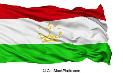 Waving national flag of Tajikistan