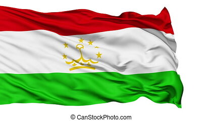 Waving national flag of Tajikistan - Animation of the full...