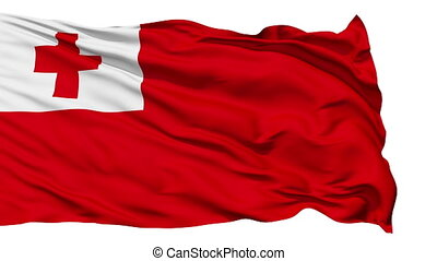 Waving national flag of Tonga