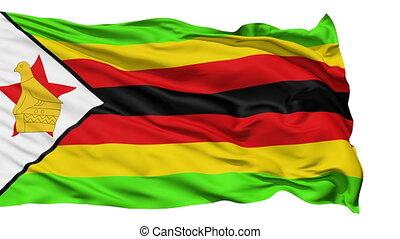 Waving national flag of Zimbabwe