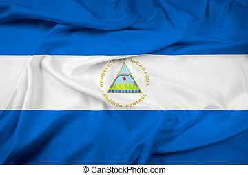 Waving Nicaragua Flag